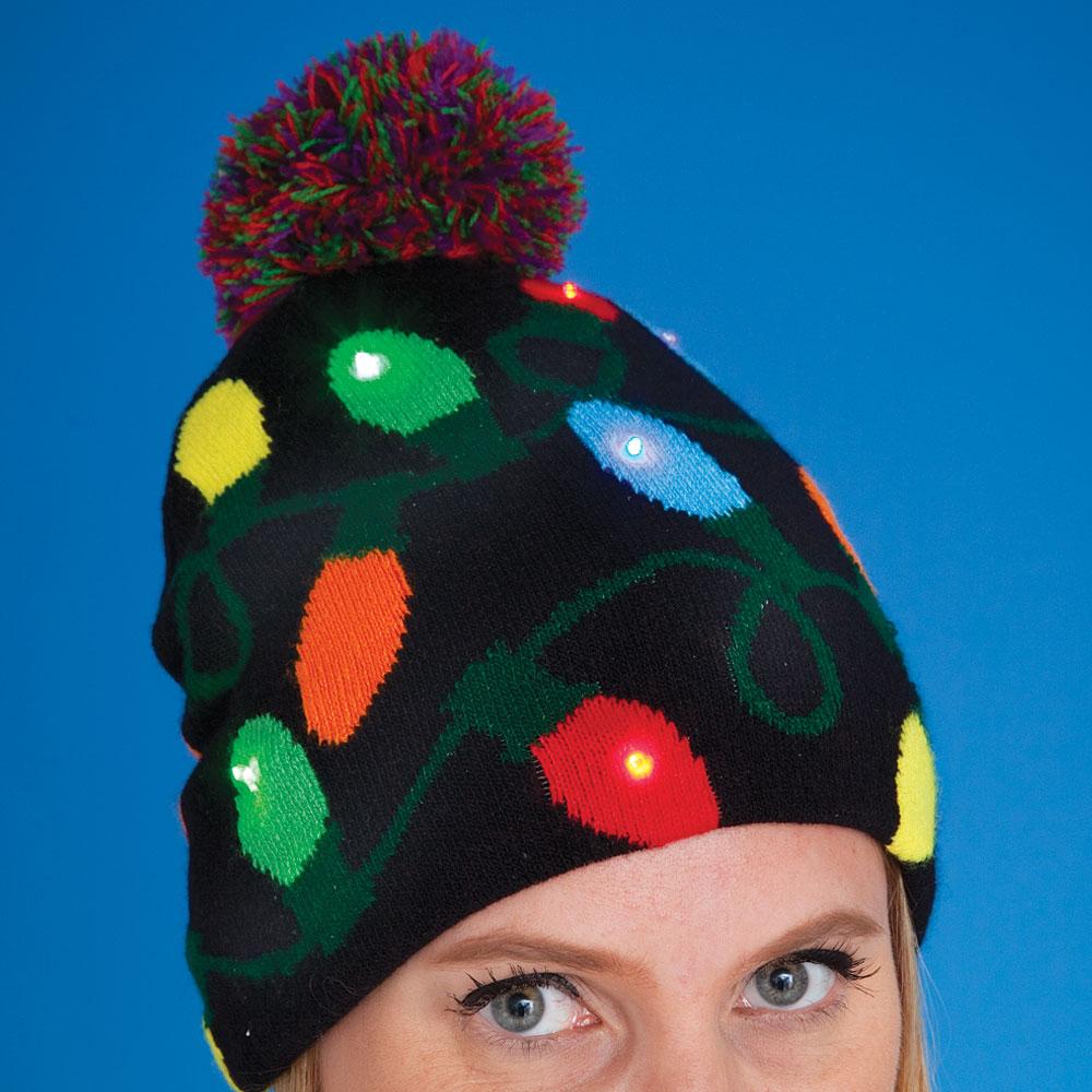 f4676ee3e7f94 Christmas Lights LED Light-Up Hat