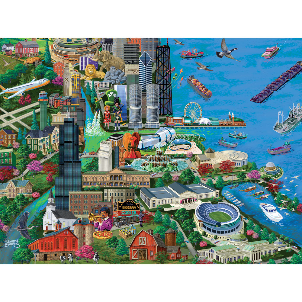 Chicago 300 Large Piece Jigsaw Puzzle