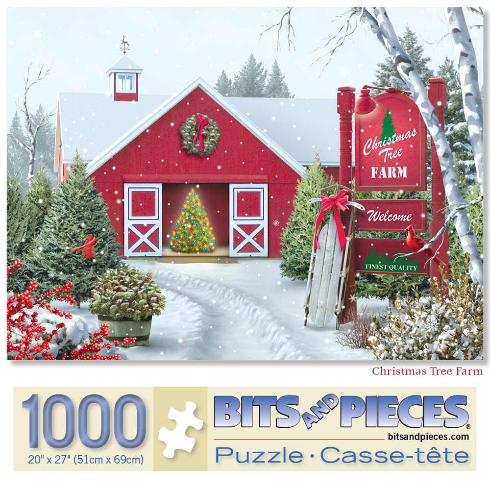 Christmas Tree Farm 1000 Piece Jigsaw Puzzle