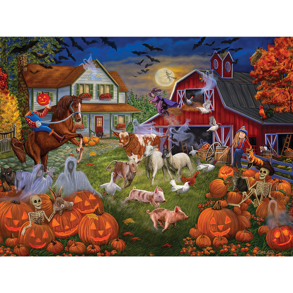 Haunted Barnyard 500 Piece Jigsaw Puzzle