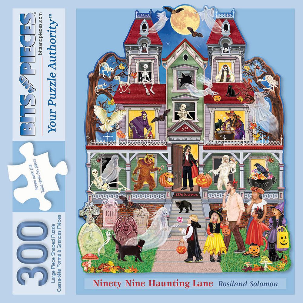 Ninety Nine Haunting Lane 300 Large Piece Shaped Puzzle