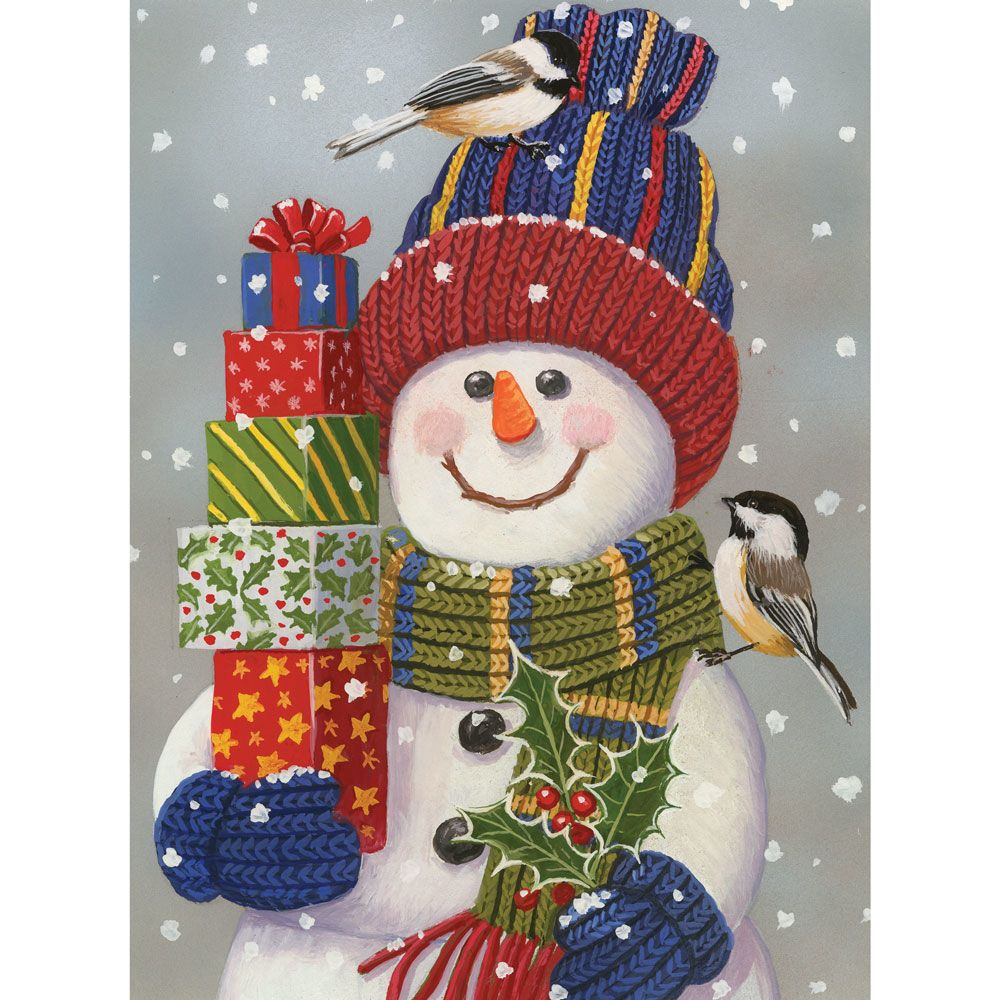 Snowman with Presents 1000 Piece Jigsaw Puzzle