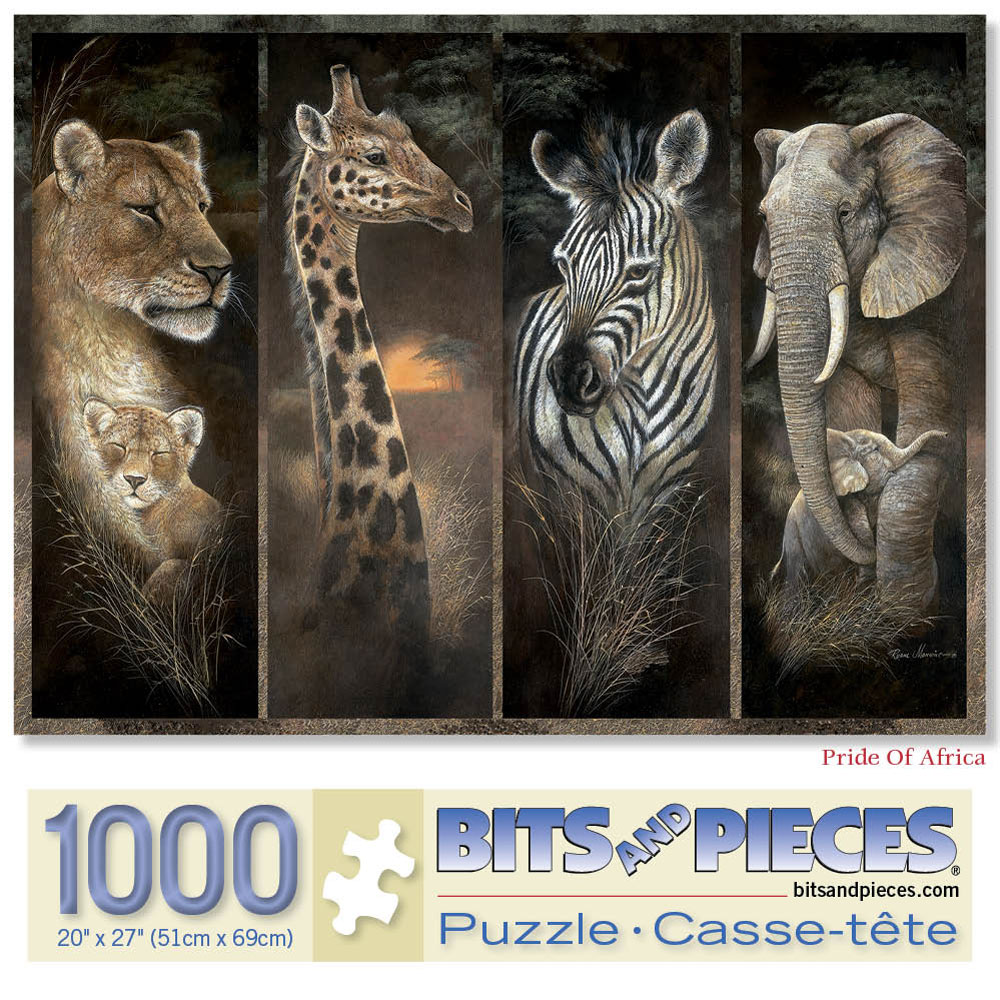 Pride of Africa 1000 Piece Giant Jigsaw Puzzle