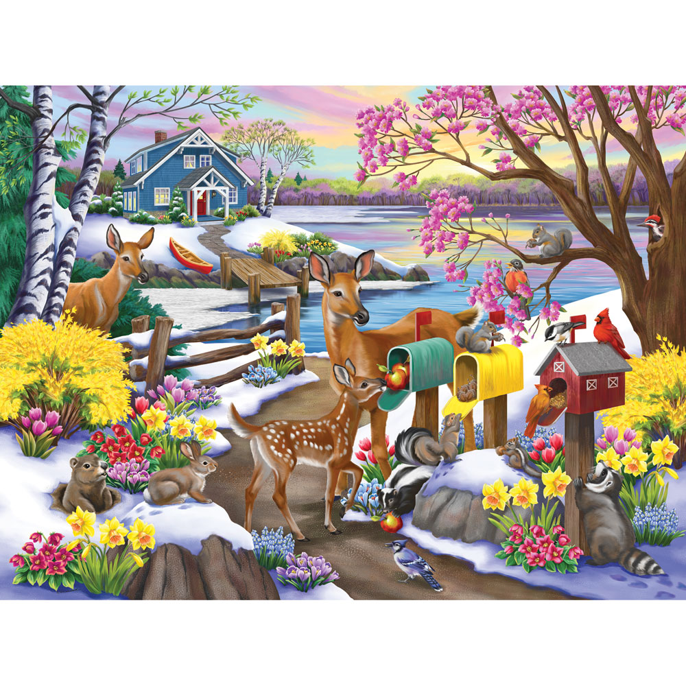 Spring Special Delivery 300 Large Piece Jigsaw Puzzle