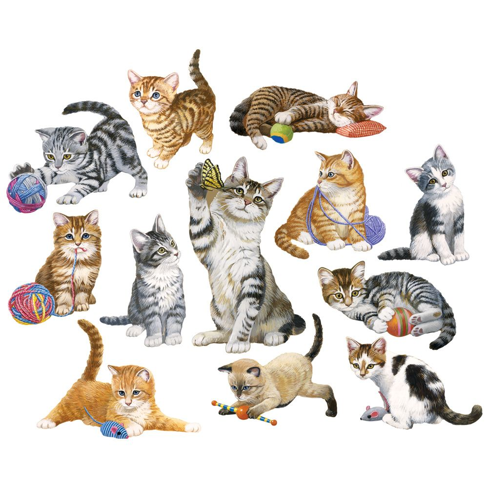 Kittens by the Dozen 250 Large Piece Shaped Mini Jigsaw Puzzles