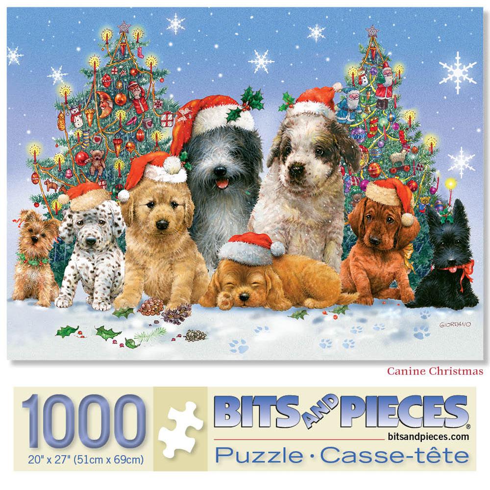 Canine Christmas 1000 Piece Jigsaw Puzzle