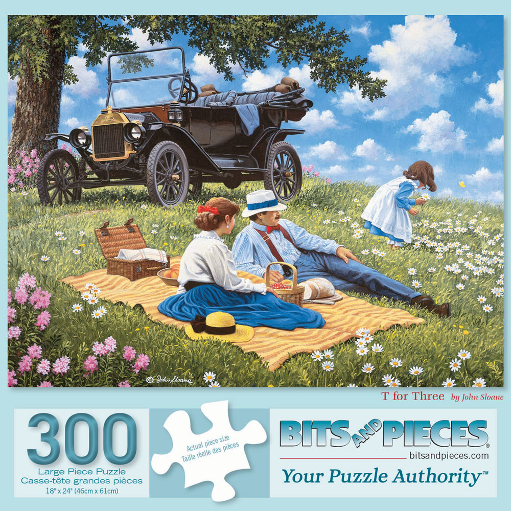 T For Three 300 Large Piece Jigsaw Puzzle