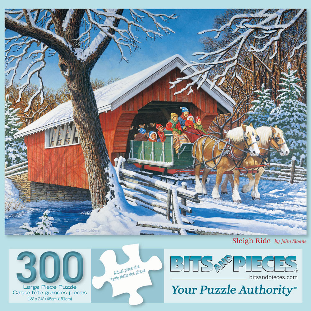 Sleigh Ride 300 Large Piece Jigsaw Puzzle