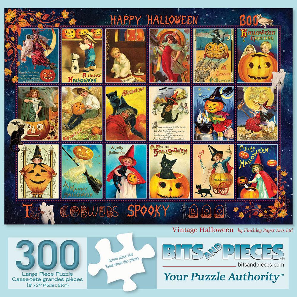 Vintage Halloween 300 Large Piece Jigsaw Puzzle