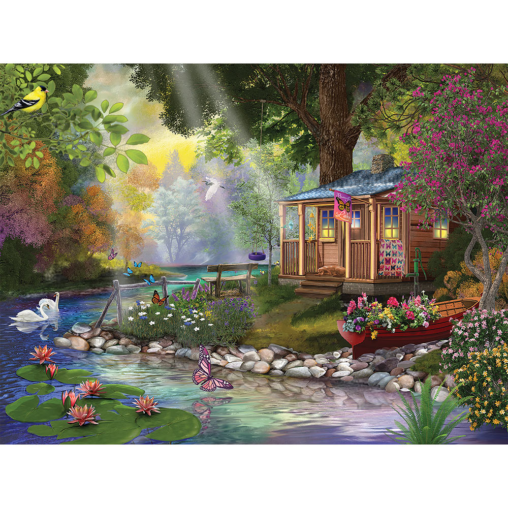 Butterfly Lake 500 Piece Jigsaw Puzzle