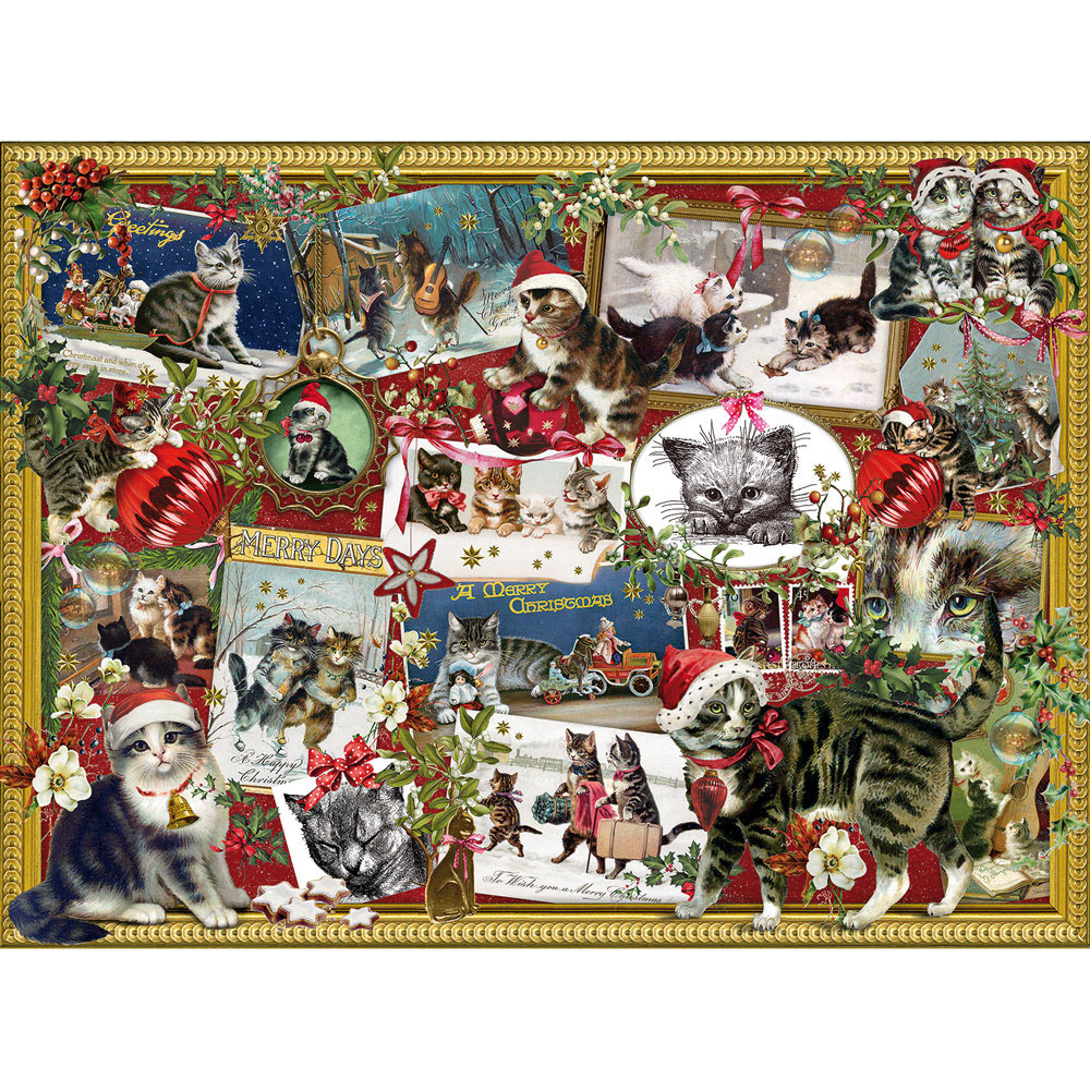 Christmas Cats 300 Large Piece Jigsaw Puzzle