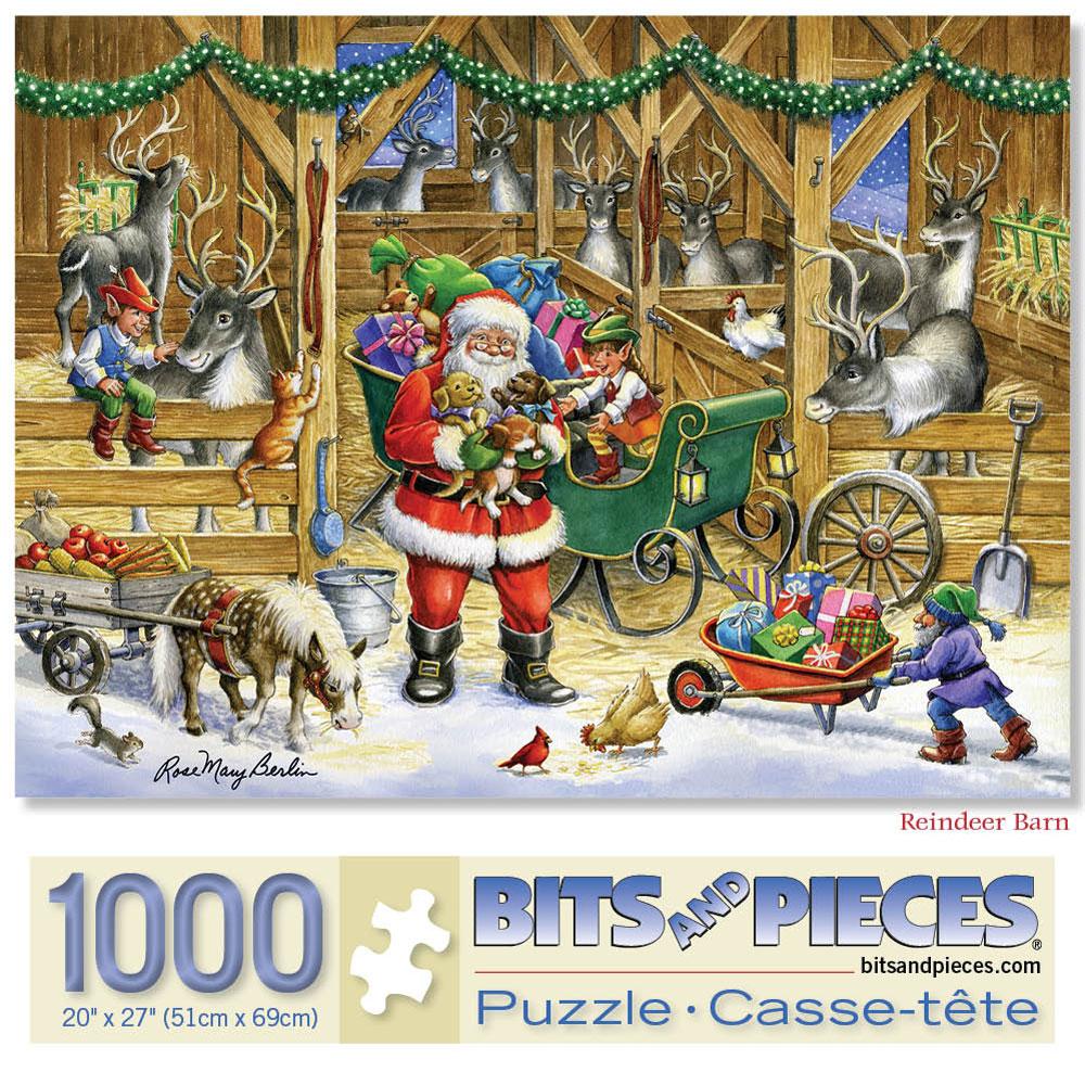 Reindeer Barn 1000 Piece Jigsaw Puzzle