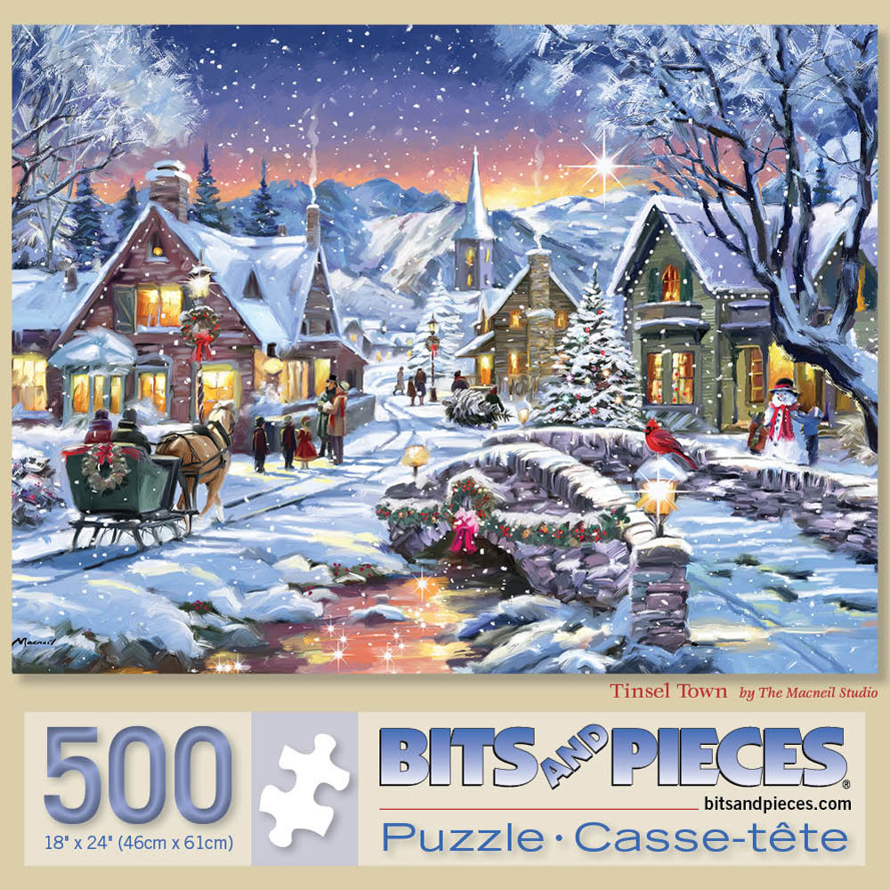 Tinsel Town 500 Piece Jigsaw Puzzle