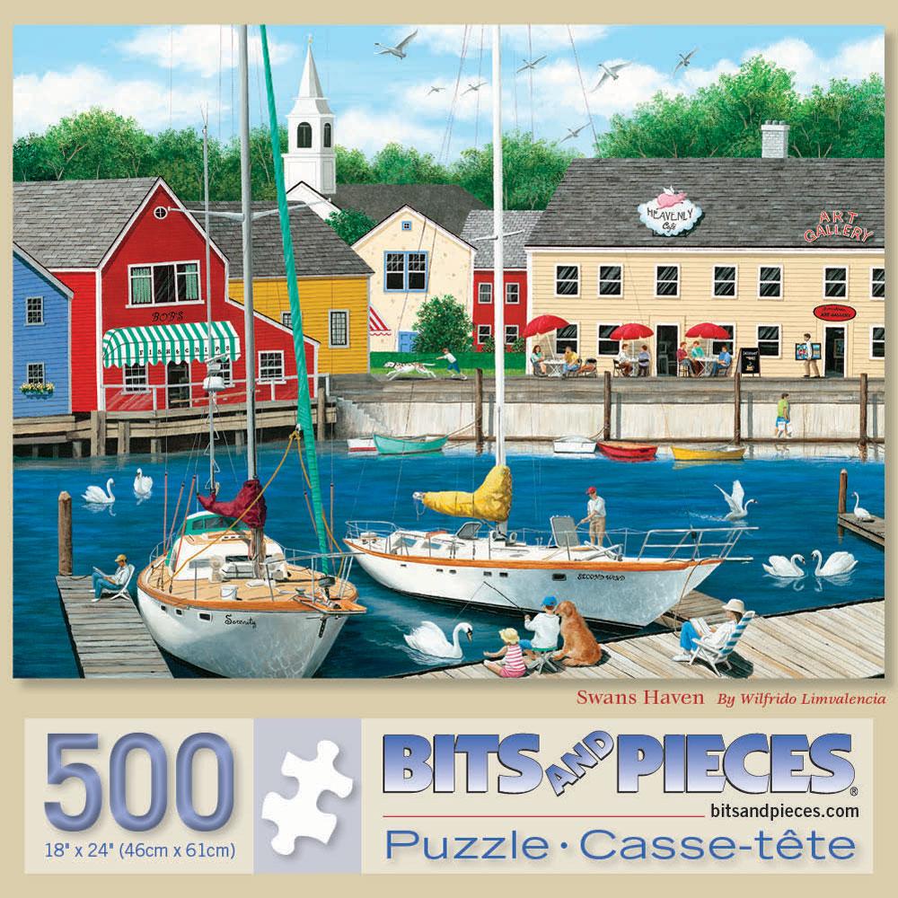 Swans Haven 500 Piece Jigsaw Puzzle