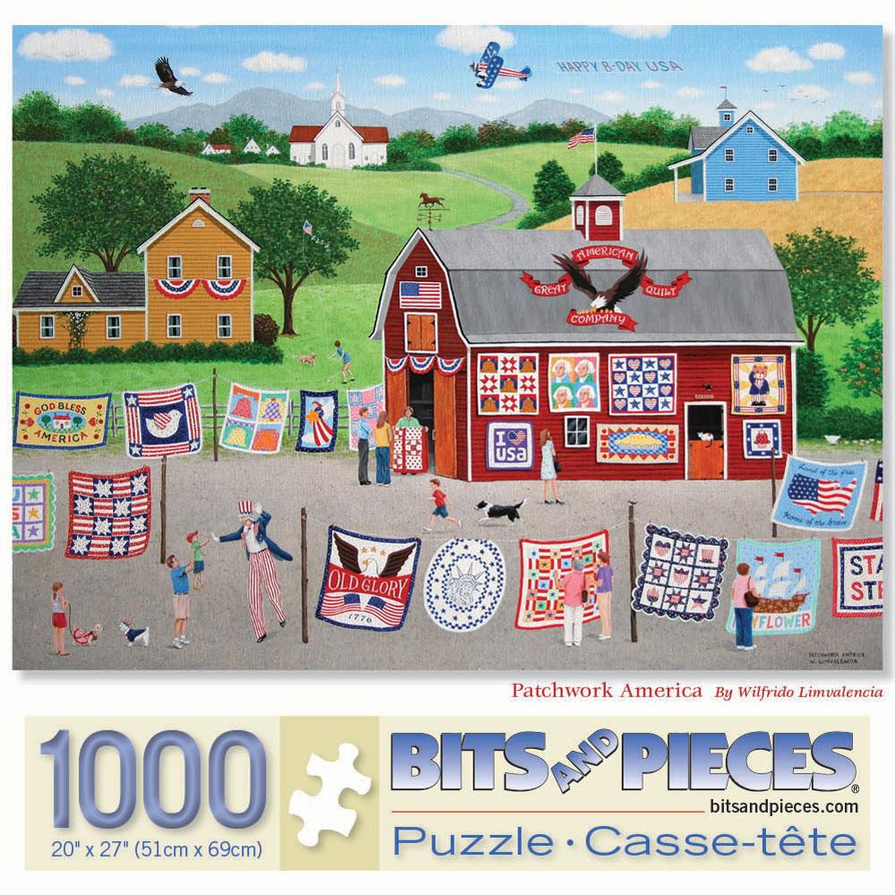 Patchwork America 1000 Piece Jigsaw Puzzle