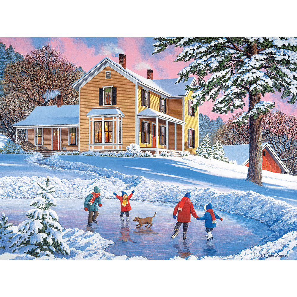 Skating Party 1000 Piece Jigsaw Puzzle