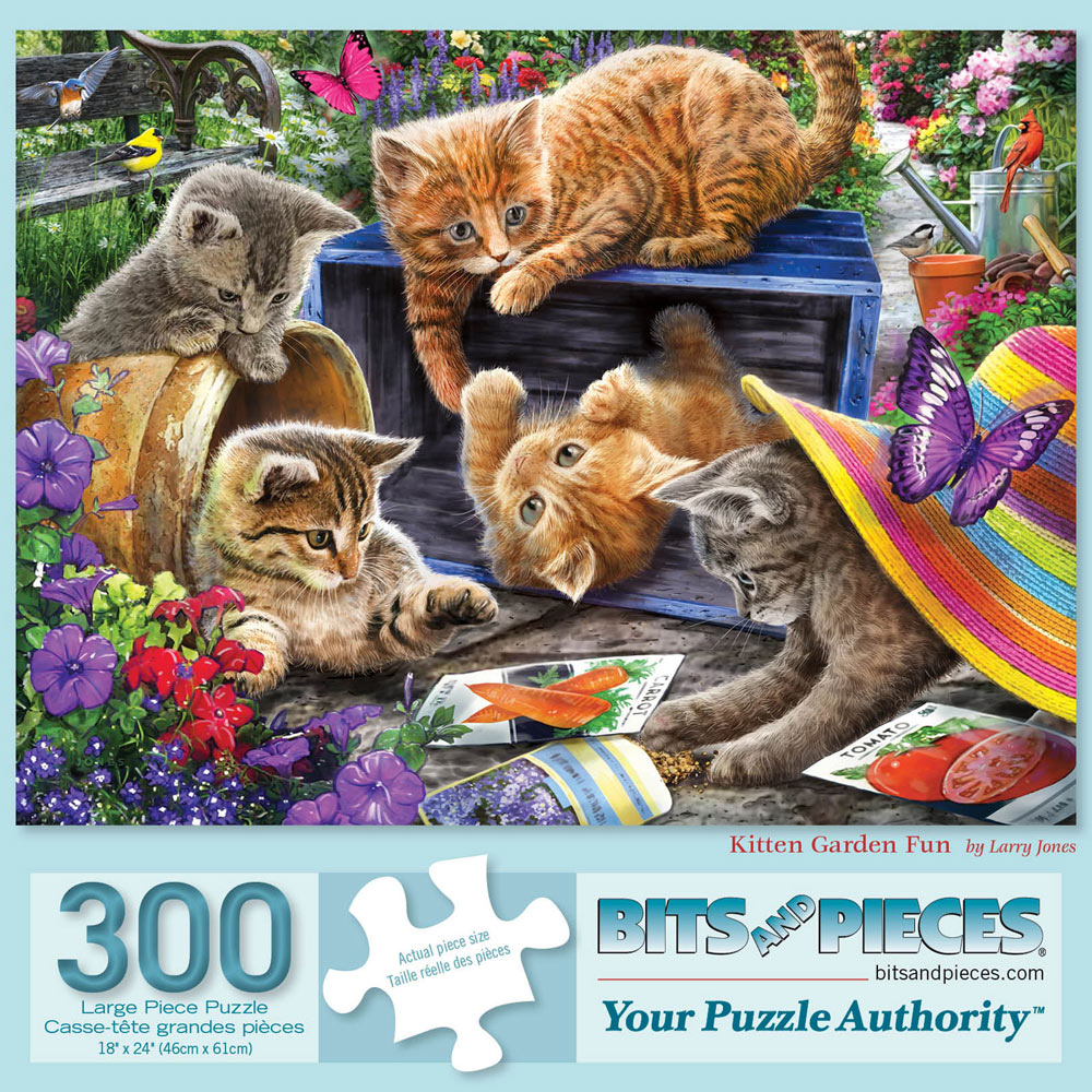 Kitten Garden Fun 300 Large Piece Jigsaw Puzzle