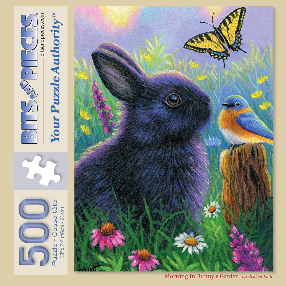 Morning In Bunny's Garden 500 Piece Jigsaw Puzzle