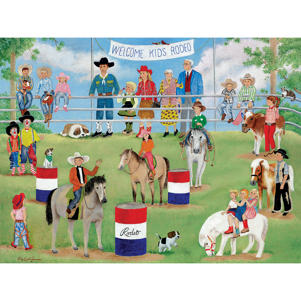 Welcome Kids Rodeo 300 Large Piece Jigsaw Puzzle