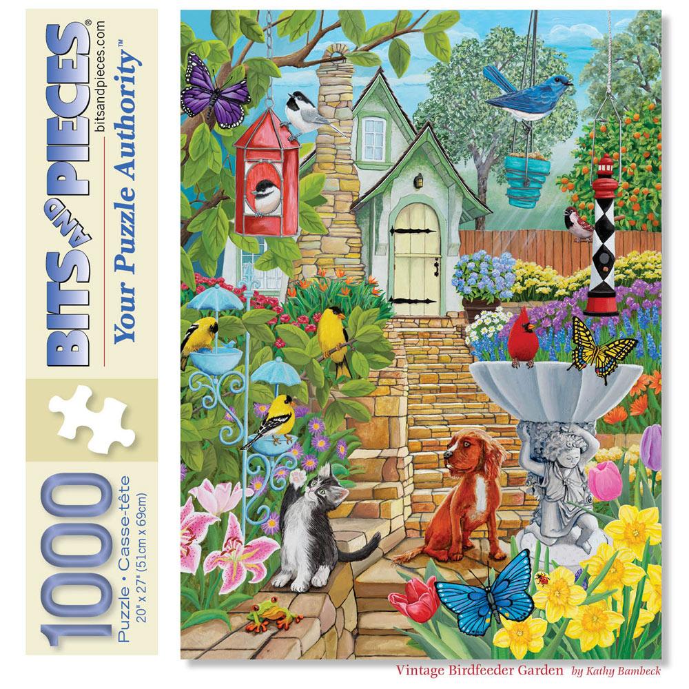 Vintage Birdfeeder Garden 1000 Piece Jigsaw Puzzle