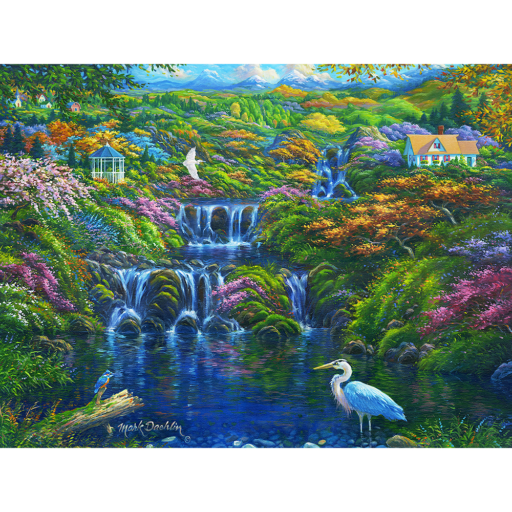 Falling Water 300 Large Piece Jigsaw Puzzle