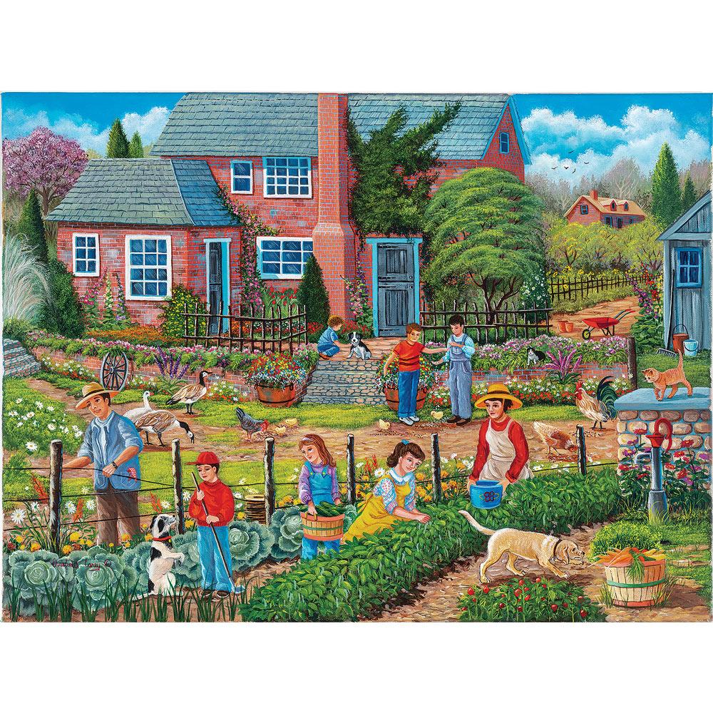 Neighbors Helping Neighbors 1000 Piece Jigsaw Puzzle