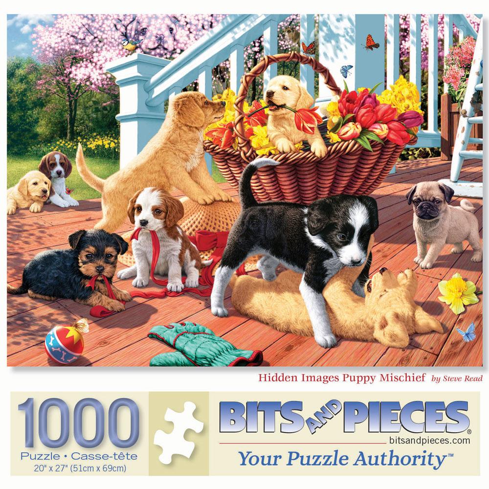 Hidden Image Puppy Mischief 1000 Piece Jigsaw Puzzle