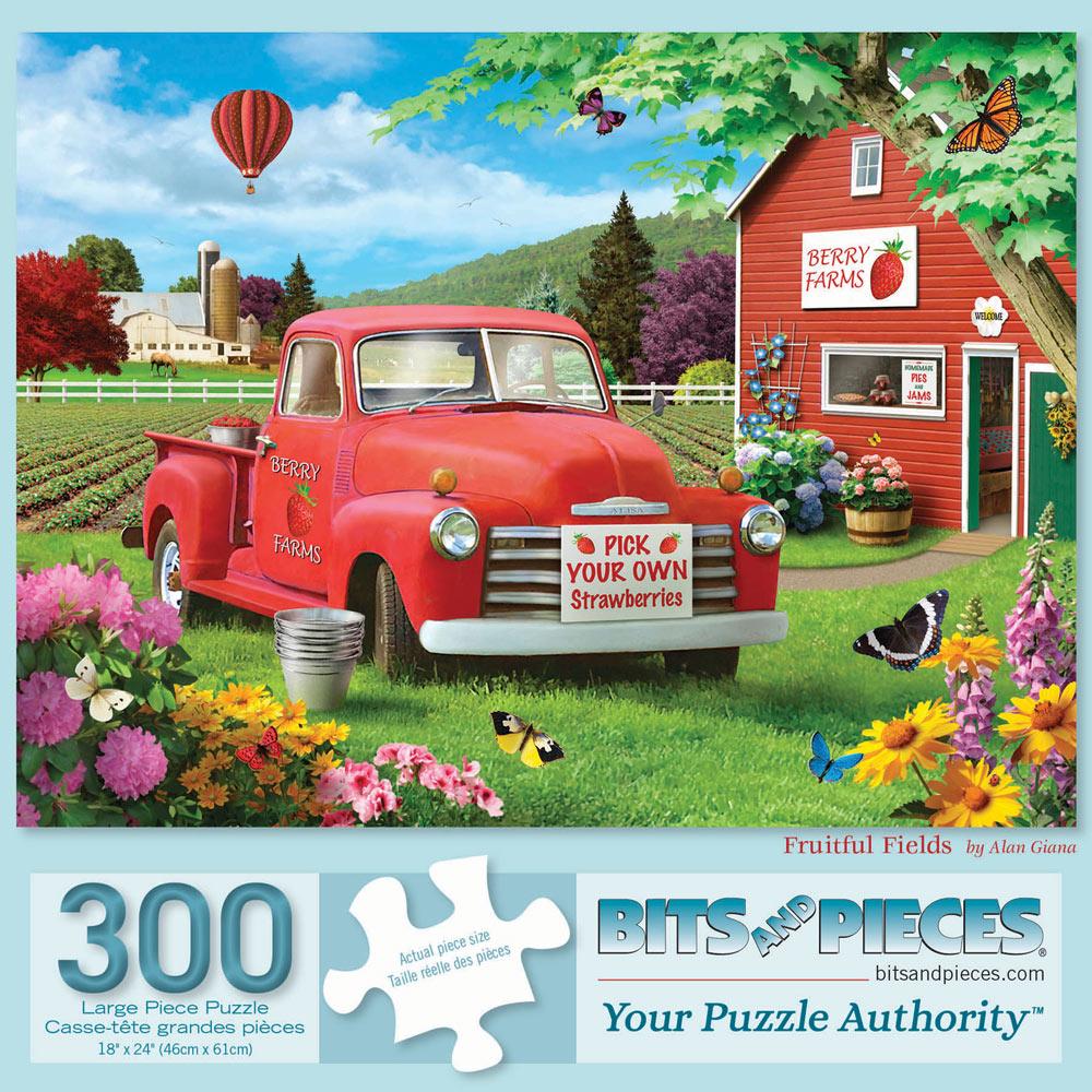 Fruitful Fields 300 Large Piece Jigsaw Puzzle