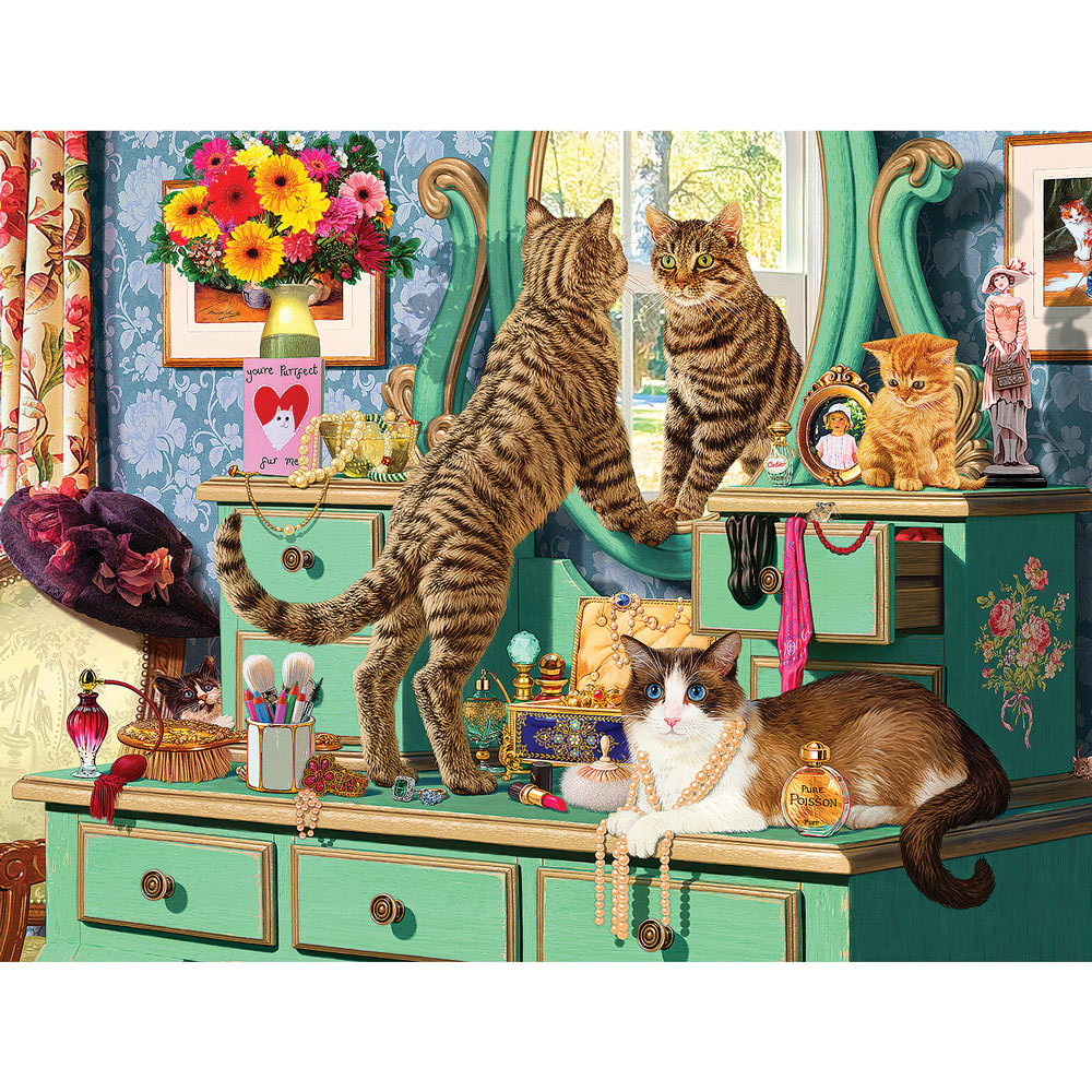 Cats Dressing Table 500 Piece Jigsaw Puzzle