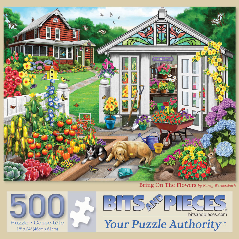 Bring On The Flowers 500 Piece Jigsaw Puzzle