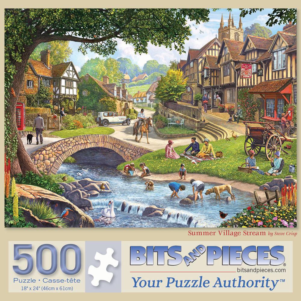 Summer Village Stream 500 Piece Jigsaw Puzzle