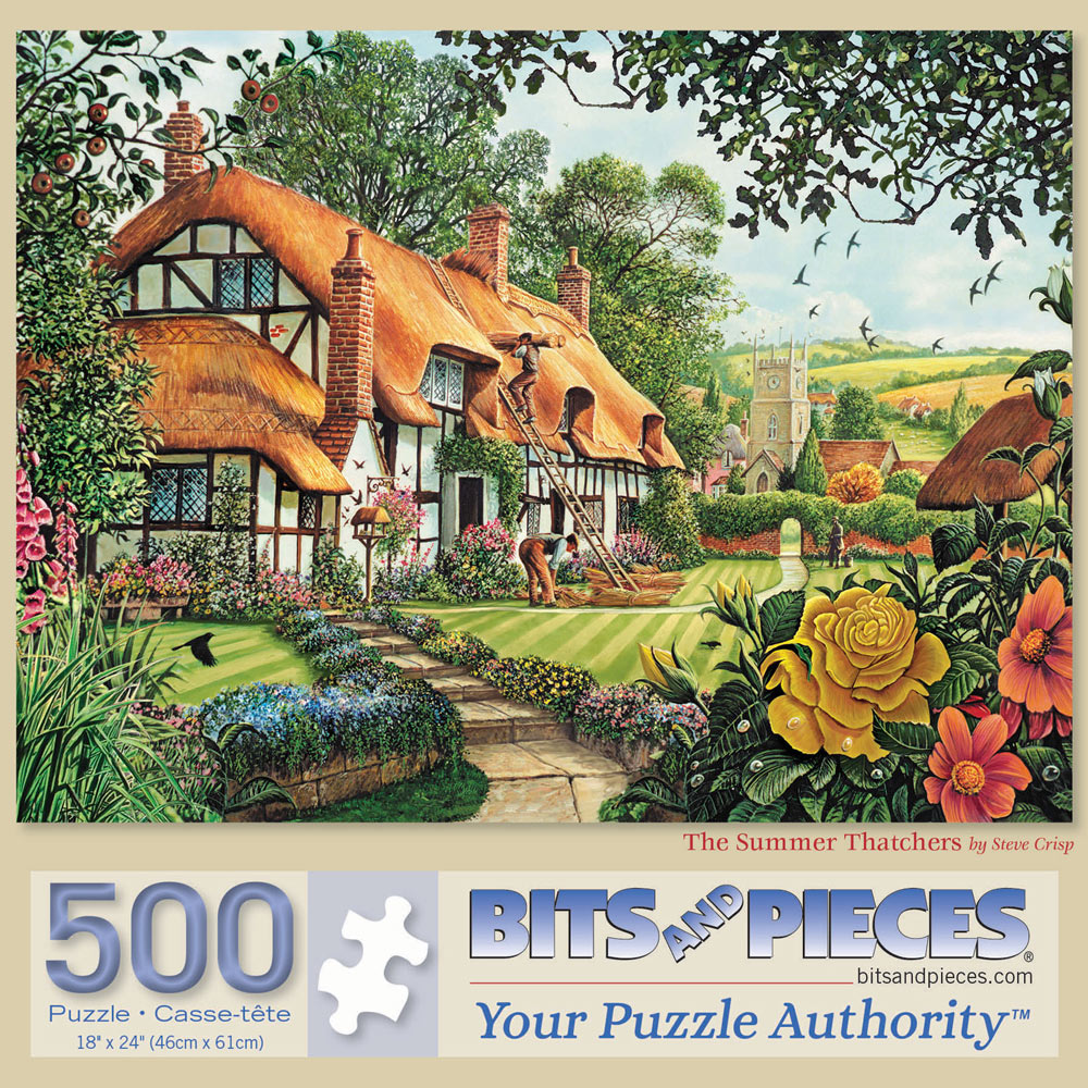 The Summer Thatchers 500 Piece Jigsaw Puzzle
