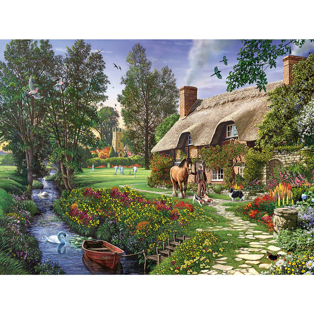 Cricketers Cottage 500 Piece Jigsaw Puzzle