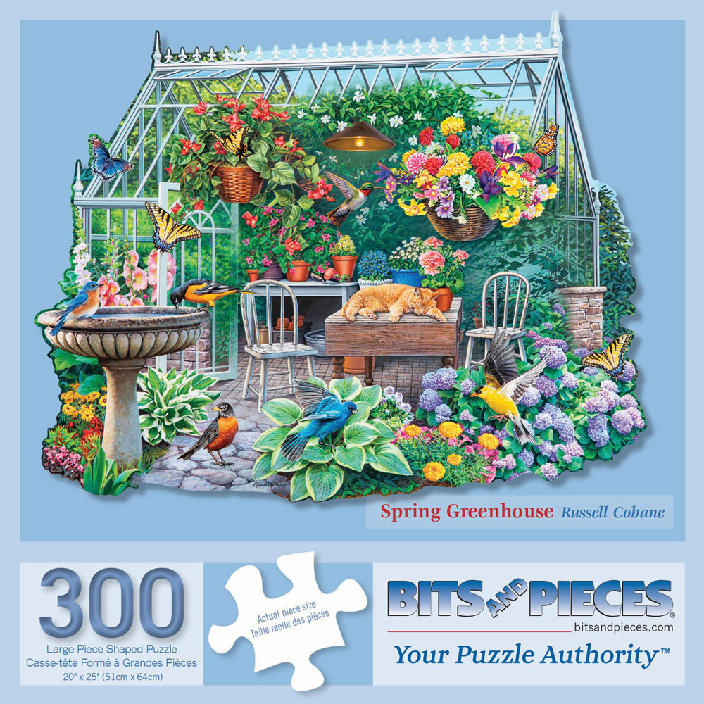 Spring Greenhouse 300 Large Piece Shaped Jigsaw Puzzle