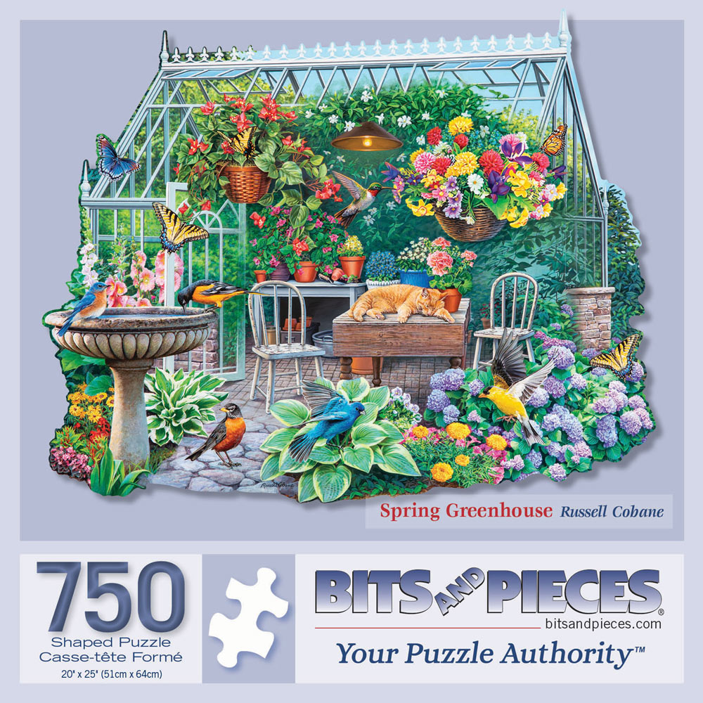 Spring Greenhouse 750 Piece Shaped Jigsaw Puzzle