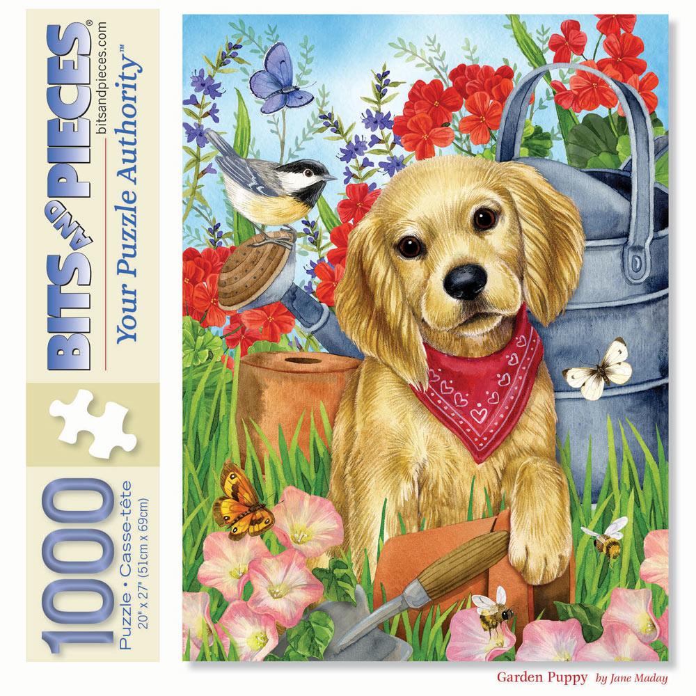 Garden Puppy 1000 Piece Jigsaw Puzzle