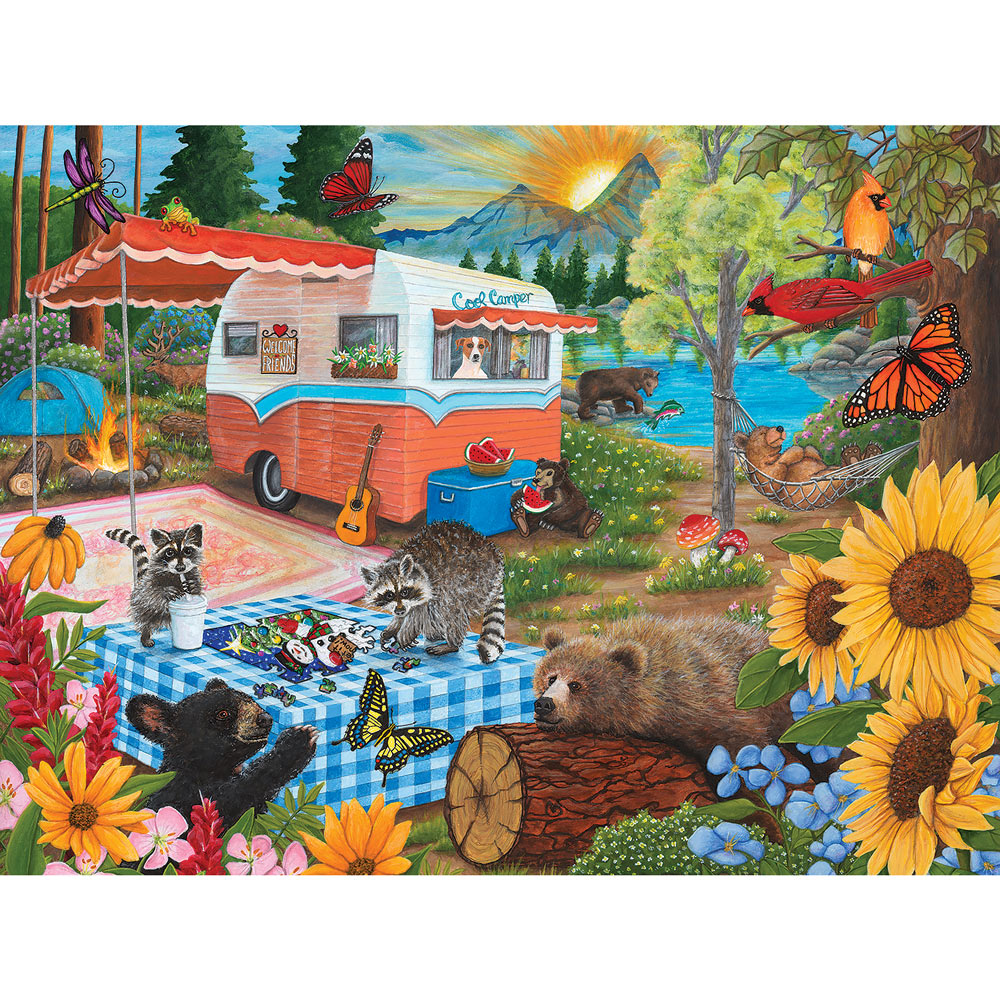 Cool Campers 500 Piece Jigsaw Puzzle