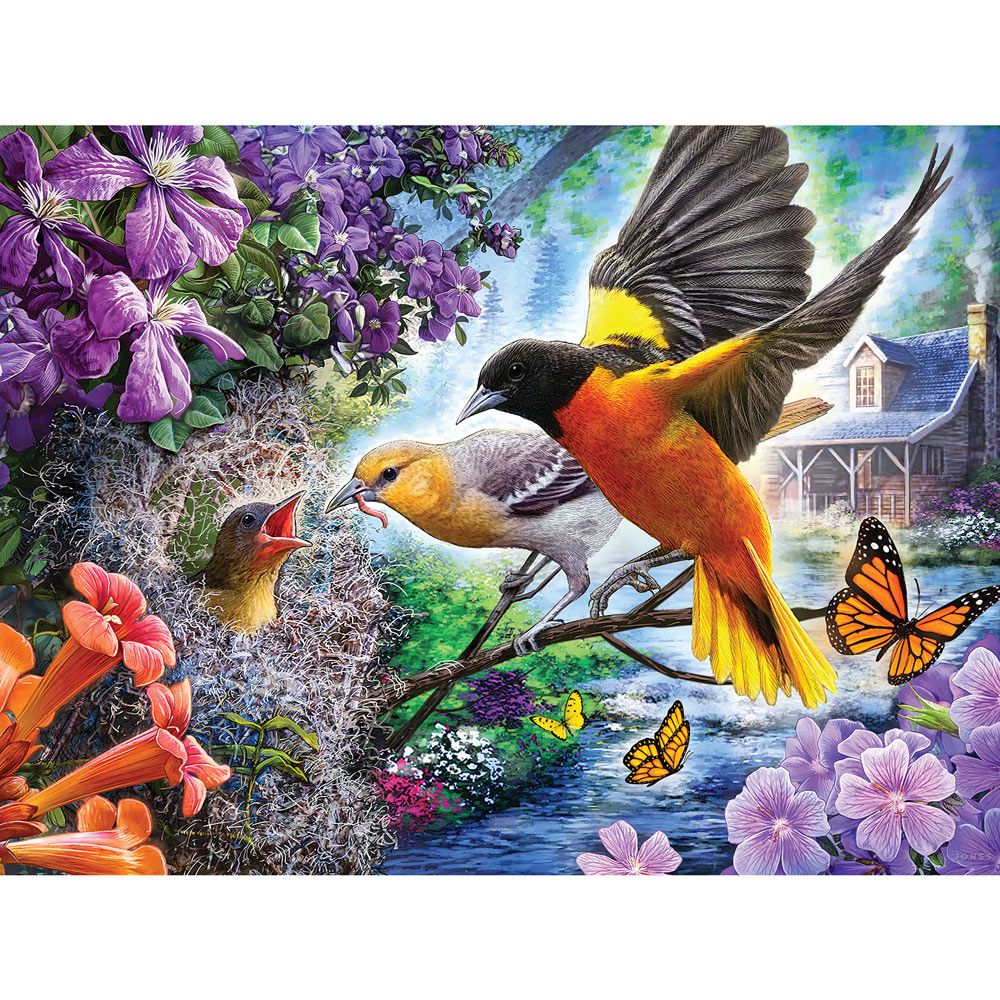 Orioles Feeding The Chick 500 Piece Jigsaw Puzzle