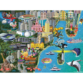 Miami 1000 Piece Jigsaw Puzzle