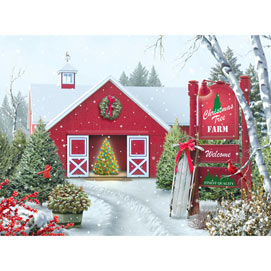 Christmas Tree Farm 1000 Piece Jigsaw Puzzle