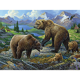 Grizzly Country 300 Large Piece Jigsaw Puzzle