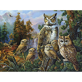 Owl Family 300 Large Piece Jigsaw Puzzle