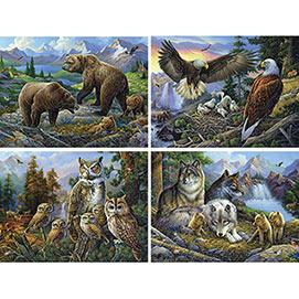 Set of 4: Oleg Gavrilov 300 Large Piece Jigsaw Puzzles