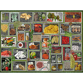 Stamp Spices 1000 Piece Jigsaw Puzzle