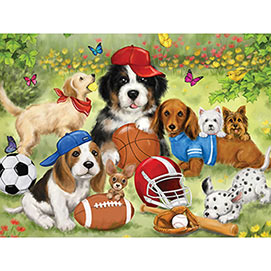 Sporty Pups 500 Piece Jigsaw Puzzle
