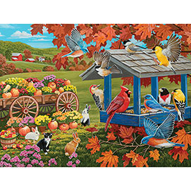 Fall Feeder And Harvest 300 Large Piece Jigsaw Puzzle