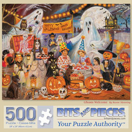 Ghosts Welcome 500 Piece Jigsaw Puzzle