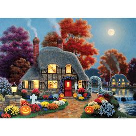 Halloween Cottage 500 Piece Jigsaw Puzzle