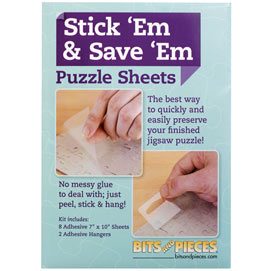 Stick 'Em & Save 'Em Puzzle Sheets