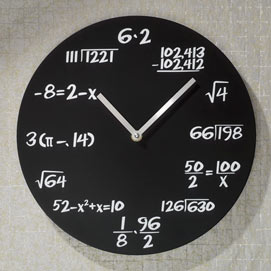Math Quiz Wall Clock